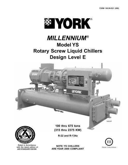 Form: 160 80 EG1 (900) York Millennium Model YS