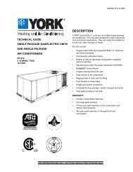 Y-TG-Single Package Gas/Electric Units and Single Package AC ...