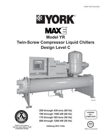 form 160 80 eg1 900 york millennium model ys chiller trader rh yumpu com Centrifugal Chiller Compressor Chiller Compressor Sound Blanket