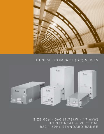Genesis compact (gc) series - HVAC Tech Support
