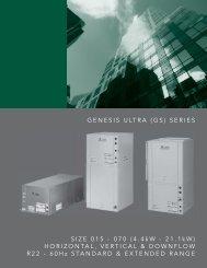 Genesis Ultra High Efficiency Series - HVAC Tech Support