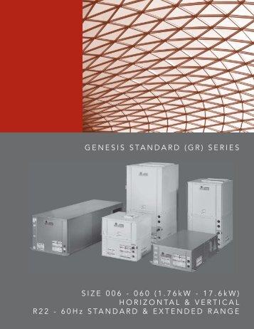 GENESIS STANDARD (GR) SERIES - HVAC Tech Support