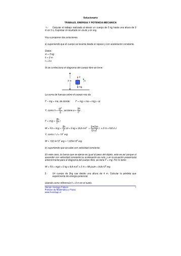 Sí - Ejercicios de física y matemática