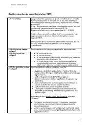 Kvalitetsstandarder hjemmesygepleje 2013 - Hvidovre Kommune