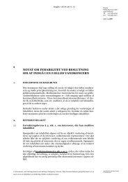 Notat af 19 marts 2012 om inhabilitet ved etablering af fælles ...