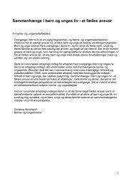 sammenhænge i børn og unges liv.pdf - Hvidovre Kommune