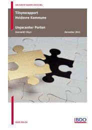 Endelig tilsynsrapport, Uanmeldt tilsyn 2011 Ungecenter Porten