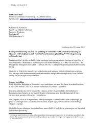Det Grønne Råd i Hvidovre, høringssvar til planforslag for opstilling ...