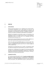 Hortens notat om lovlighed af garanti til fremstød - Hvidovre Kommune