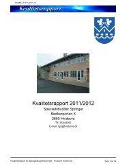 Kvalitetsrapport Springet 2011-2012.pdf - Hvidovre Kommune