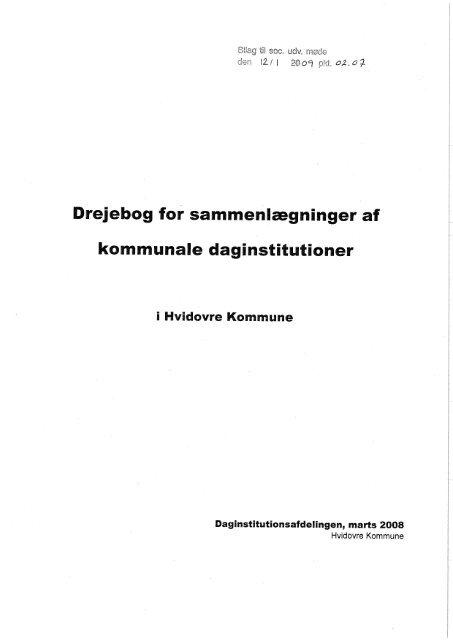 Drejebog for sammenlægninger af - Hvidovre Kommune