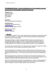 Projektbeskrivelse - Styrket rehabilitering af erhvervsaktive borgere ...