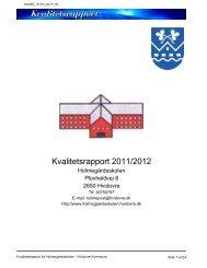 Kvalitetsrapport Holmegårdsskolen 2011-2012.pdf - Hvidovre ...