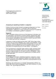 By- og Teknikforvaltningens ansøgning af 12. december 2012 til ...