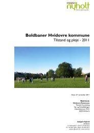 Boldbaner Hvidovre kommune, Tilstand og pleje - 2011, udarbejdet ...