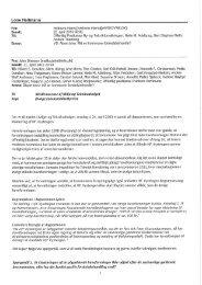 E-mail af 21. april 2013 fra Haveforeningen Kystengen, ved formand ...
