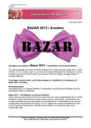BAZAR 2013 i Avedøre - Hvidovre Kommune