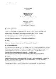 Udkast til forpagtningsaftale - Hvidovre Kommune