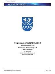 Kvalitetsrapport 2009/2011 - Hvidovre Kommune