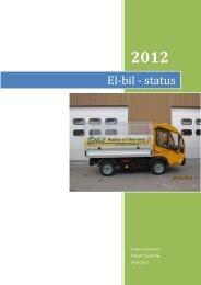 El-bil-status, Hvidovre Kommune, 2012