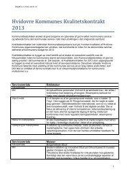 Hvidovre Kommunes Kvalitetskontrakt 2013