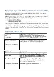 Opfølgningsredegørelse på kvalitetskontraktsmål 2012, Teknik