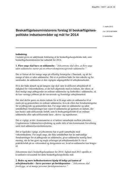 Notat om mål for beskæftigelsesindsatsen 2014.pdf - Hvidovre ...