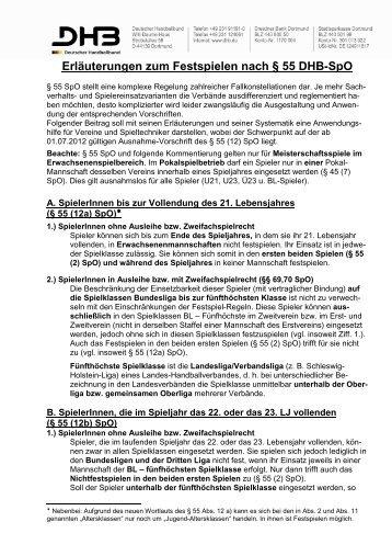 § 55 SpO Festspielen Erläuterungen 2012 - HVW