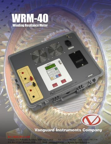 Vanguard 76pg Catalog - HVTEST South Africa