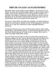 Über die Anlagen am Räuschenberg