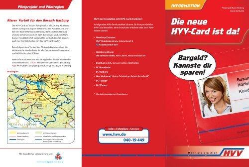 Kundenflyer HVV-Card