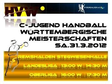 C-Jugend Handball Württembergische Meisterschaften Sa ... - HVW