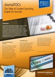 JournalTOCs - Heriot-Watt University