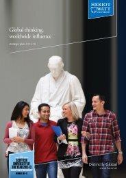 Strategic Plan - Heriot-Watt University