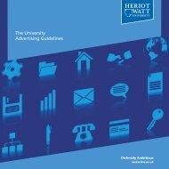The University Advertising Guidelines - Heriot-Watt University