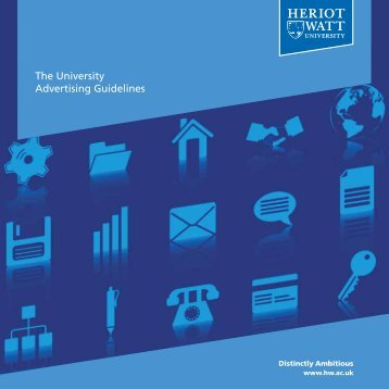 The University Advertising Guidelines - Heriot-Watt University
