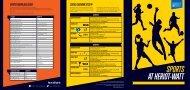 Sports Union leaflet - Heriot-Watt University