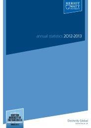 annual statistics 2O11-2012 - Heriot-Watt University
