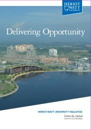 Delivering Opportunity - Heriot-Watt University Malaysia