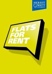 flats for rent booklet - Heriot-Watt University