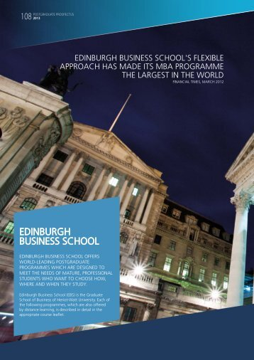 EdINBURgH BUSINESS SCHOOL - Heriot-Watt University