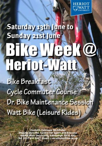 Bike Week - Heriot-Watt University