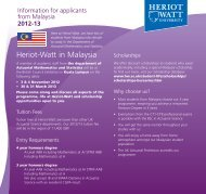 Information for applicants from Malaysia - Heriot-Watt University