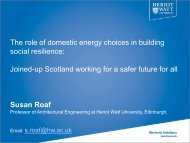 The role of domestic energy choices in building social resilience ...