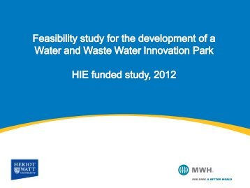 Feasibility Study for the Development of a Water & Waste Innovation ...