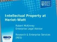 Intellectual Property at Heriot-Watt - Heriot-Watt University