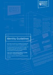 Identity Guidelines - Heriot-Watt University