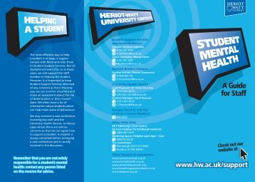 Student Mental Health - A Guide for Staff