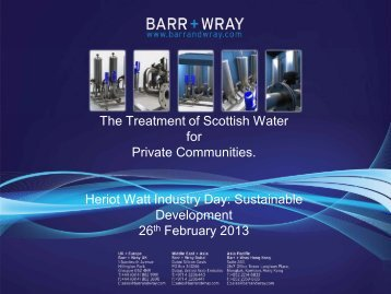 The Treatment of Scottish Water for Private Communities