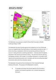 Campus Masterplan Overview - Heriot-Watt University